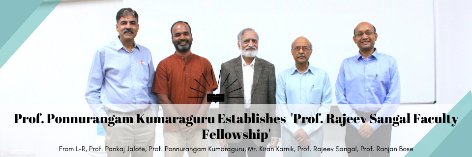 IIIT-Delhi professor creates faculty fellowship in the name of another professor